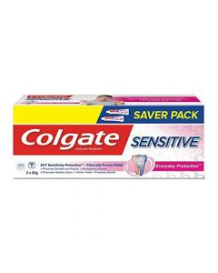 Colgate Sensitive Anticavity Toothpaste with Clove Oil, for Sensitivity Relief, 160g, Buy 1 Get 1 Free (2 x 80g)