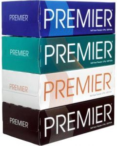 Premier Box Face Tissue 100 Pulls- 2PLY  [Pack of 4]